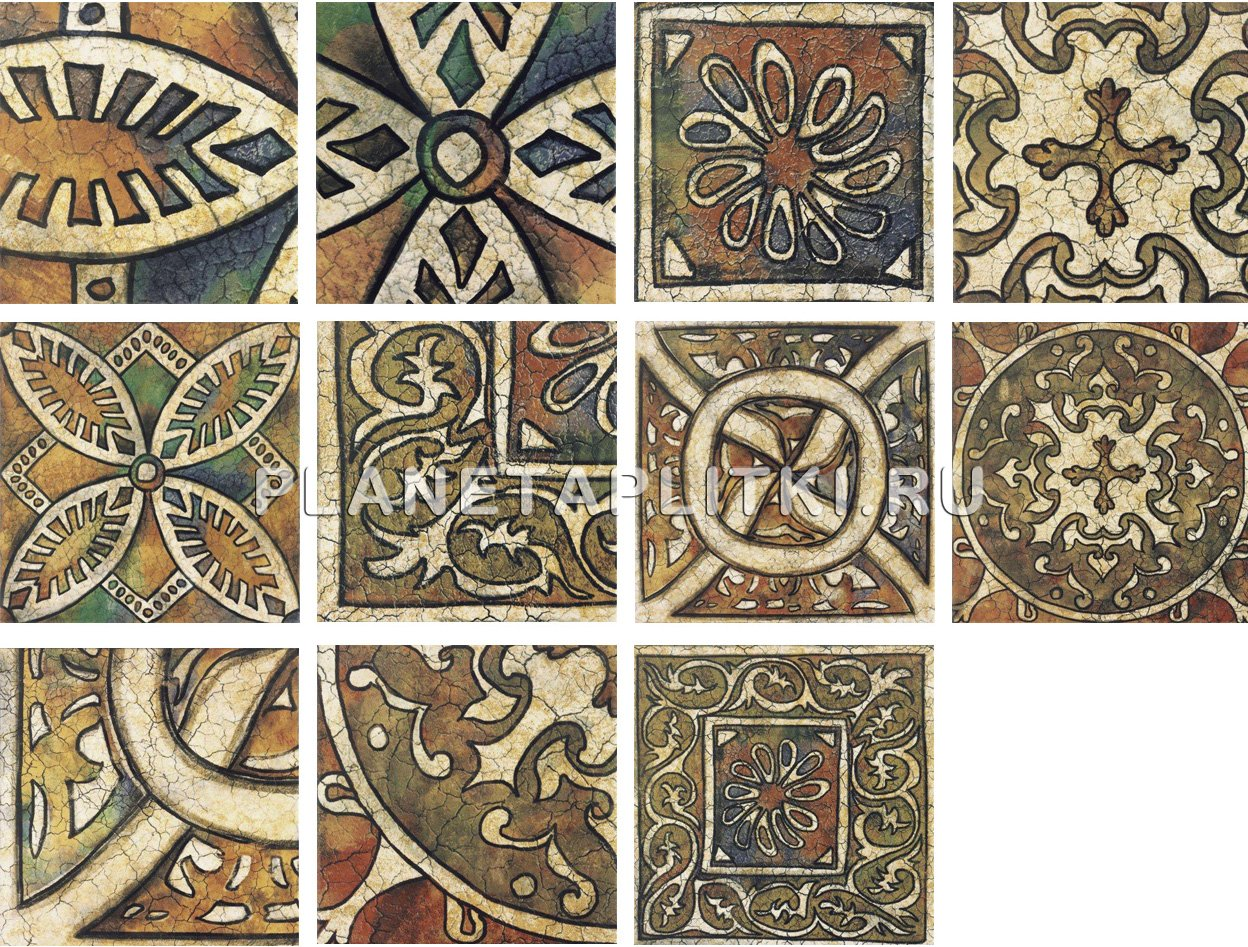 Ceramic tiles decorative